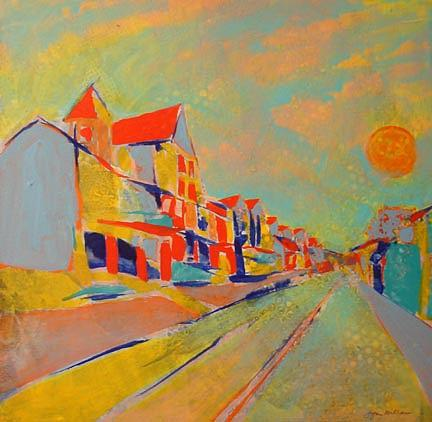Urbanscape Painting - Main Street 2 by Lynn Millar