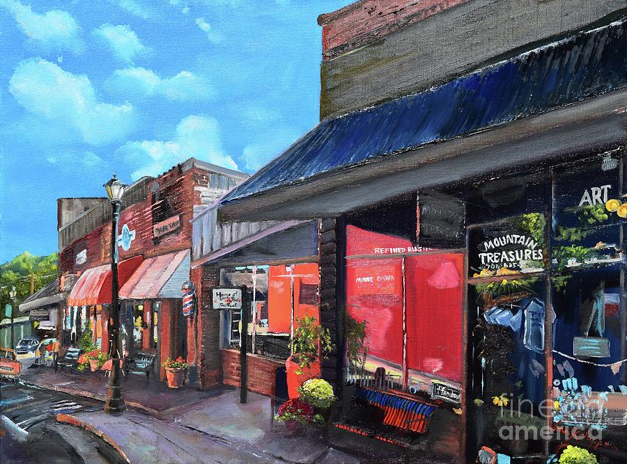 Main Street Ellijay - Mountain Treasures - On the Square by Jan Dappen