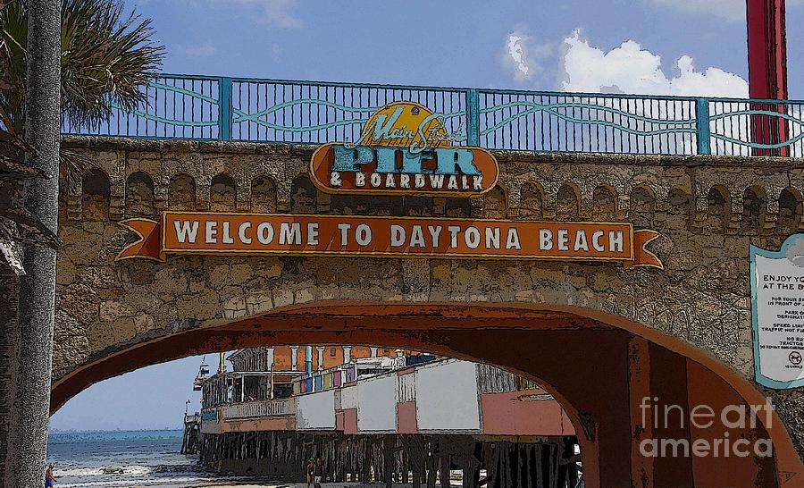 Artwork Painting - Main Street Pier And Boardwalk by David Lee Thompson