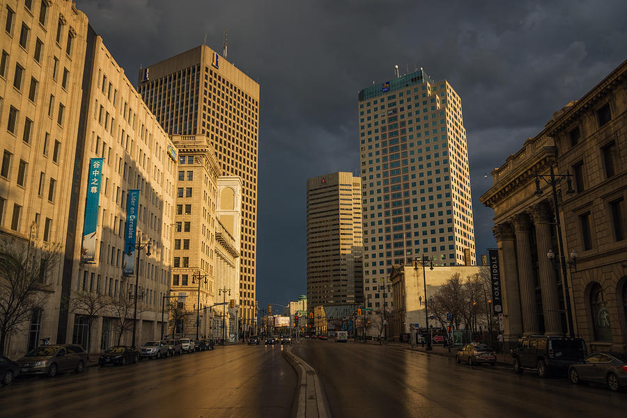 Architecture Photograph - Main Street Sunset by Bryan Scott