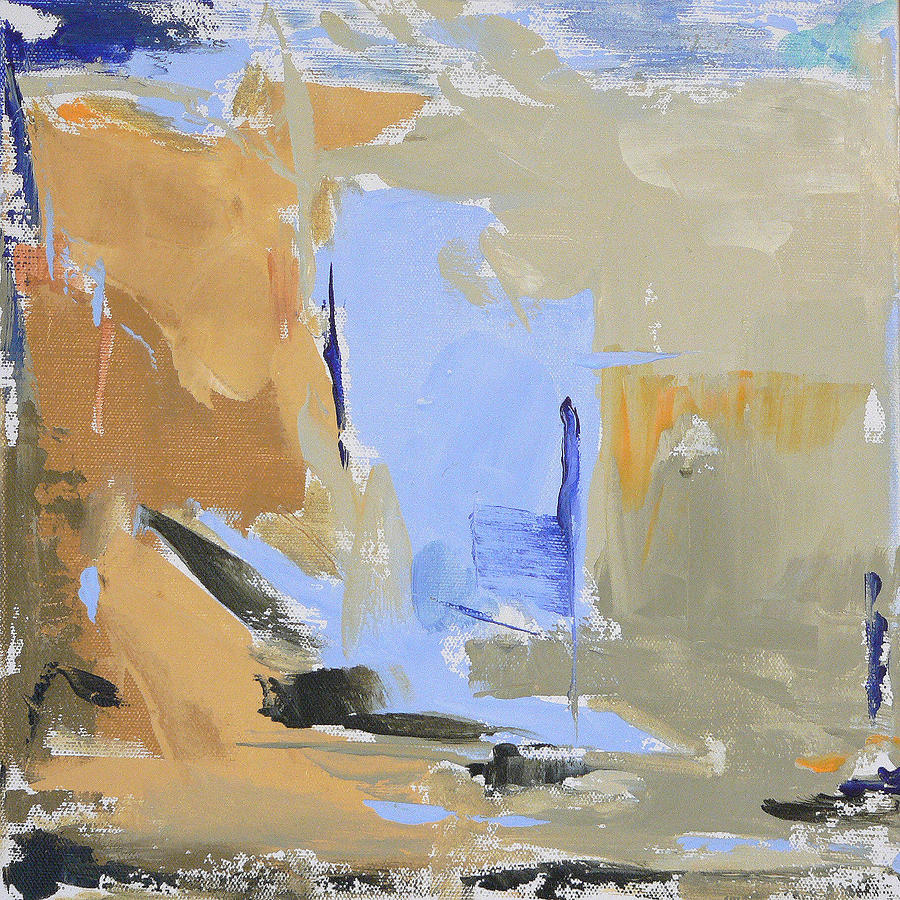 Abstract Painting - Maine - Lowtide I by Jacquie Gouveia