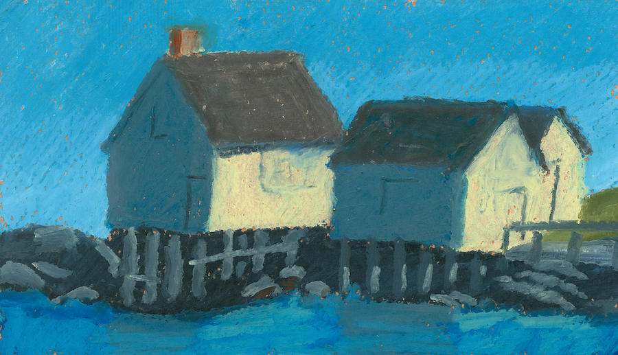 Maine Beach Fishing Shacks by Dominic White