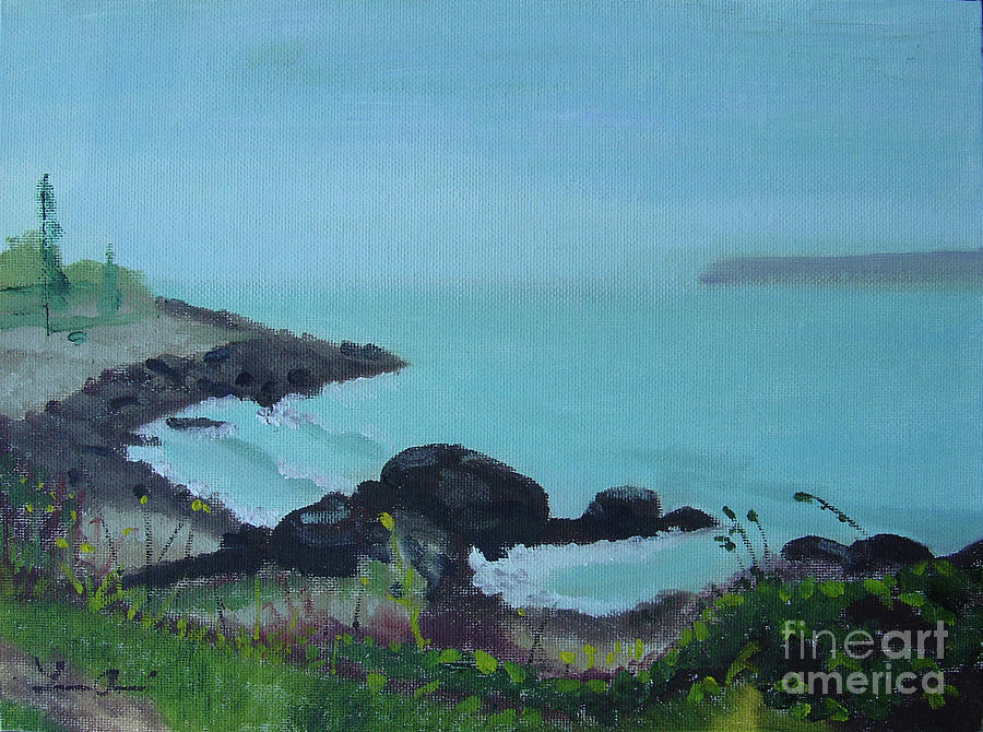 Coast Painting - Maine Coast 1 by Lilibeth Andre