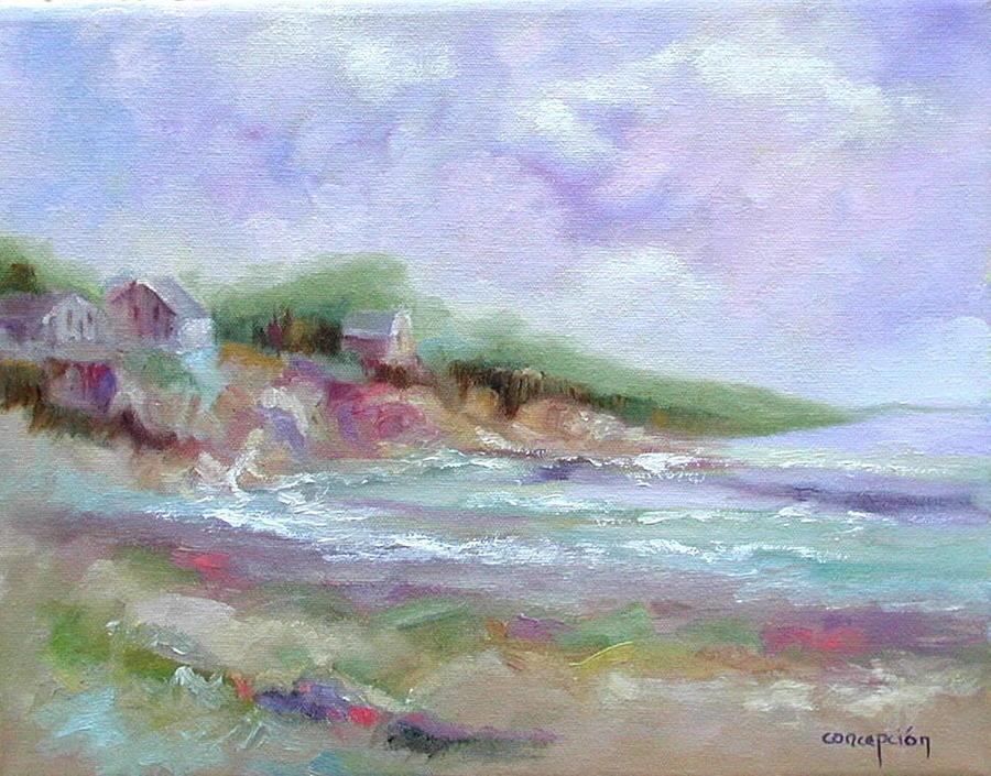Maine Coastline Painting - Maine Coastline by Ginger Concepcion