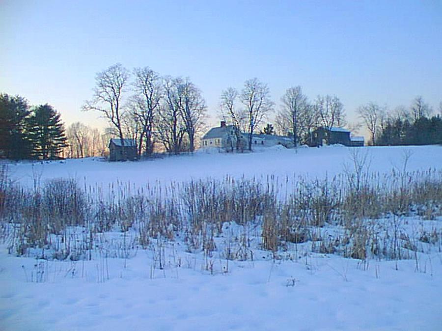 Maine Farm In Winter Photograph by Sue Hartman