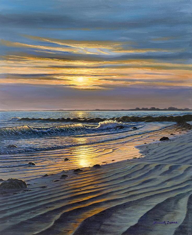 Seascape Painting - Maine Impact by Bruce Dumas