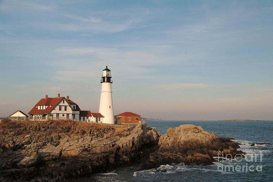 Maine Photograph - Maine Lighthouse by Alberta Brown Buller