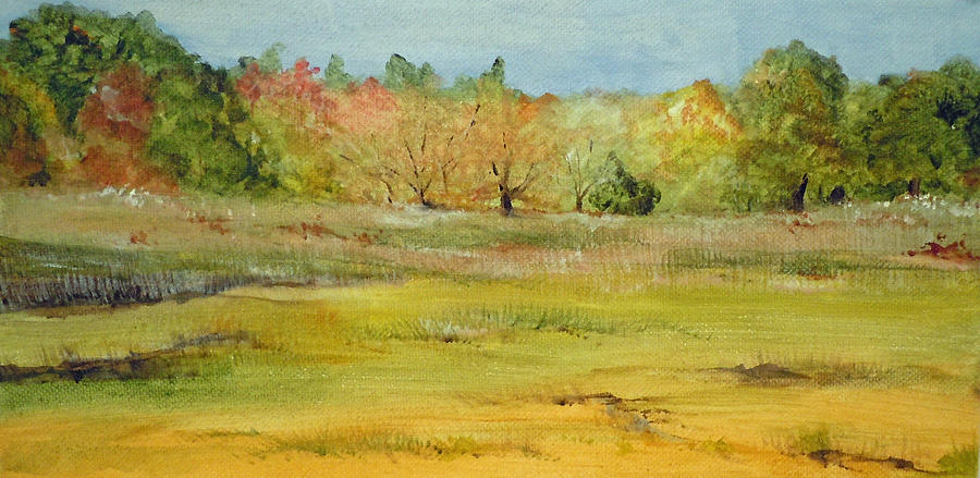 Landscape Painting - Maine Marsh by Jean Blackmer