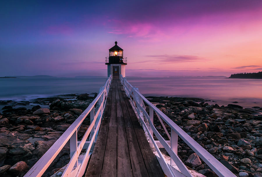 Maine Photograph - Maine Sunset At Marshall Point Lighthouse by Ranjay Mitra