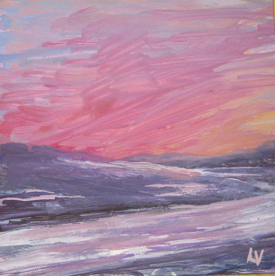 Maine Painting - Maine Sunset by Lynne Vokatis