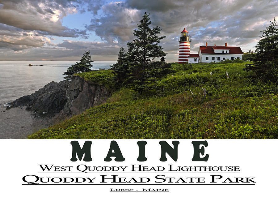 MAINE West Quoddy Head Lighthouse by Marty Saccone