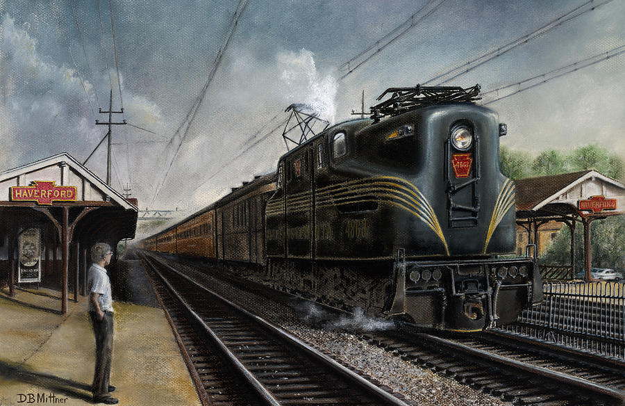 Trains Painting - Mainline Memories by David Mittner