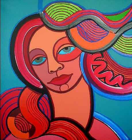 Spring Painting - Mairim Perez Is The Spring by Jose Miguel Perez Hernandez