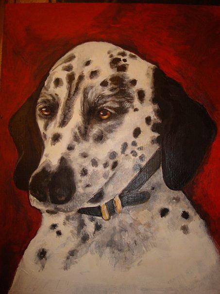 Dalmation Painting - Maisy by Marcella Jackson