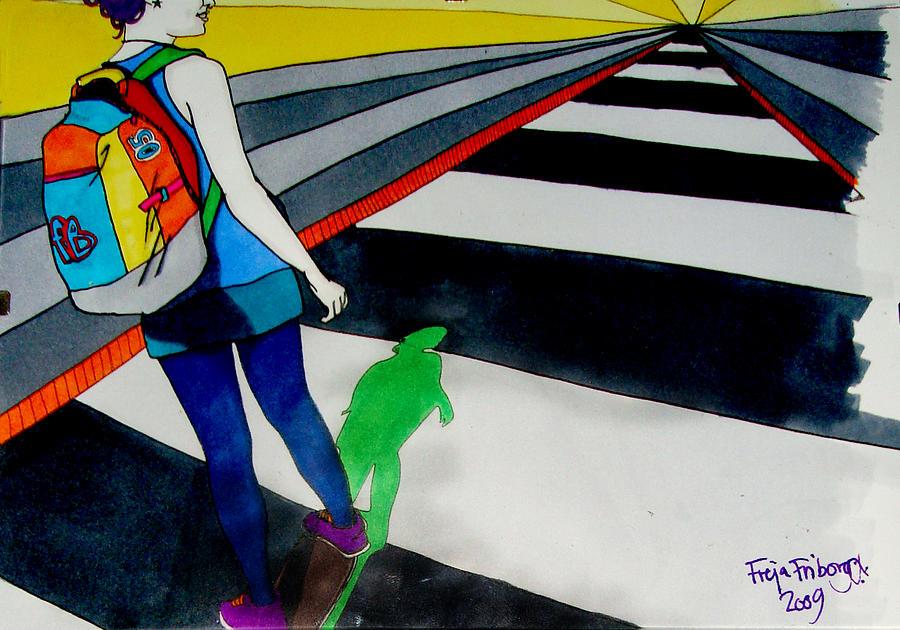 Skate Drawing - Maja Skate by Freja Friborg