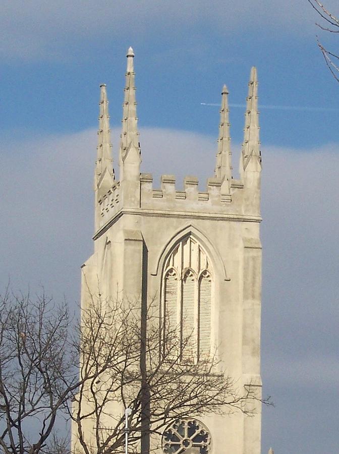 Church Photograph - Majectic Steeple by Martha Hoskins