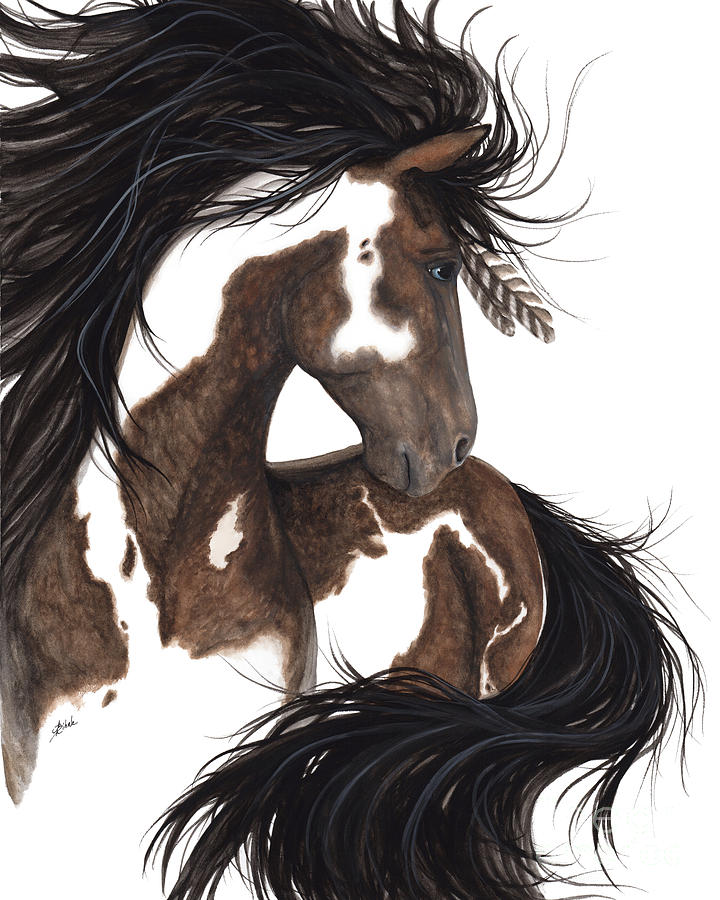 Majestic Horse Painting - Majestic Dream Pinto Horse by AmyLyn Bihrle