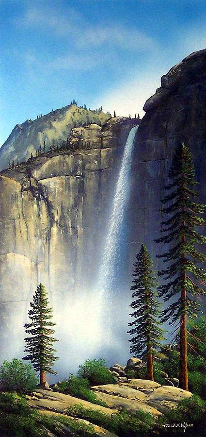 Landscape Painting - Majestic Falls by Frank Wilson