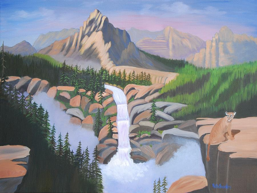 Mountains Painting - Majestic Guardian by Ruth  Housley