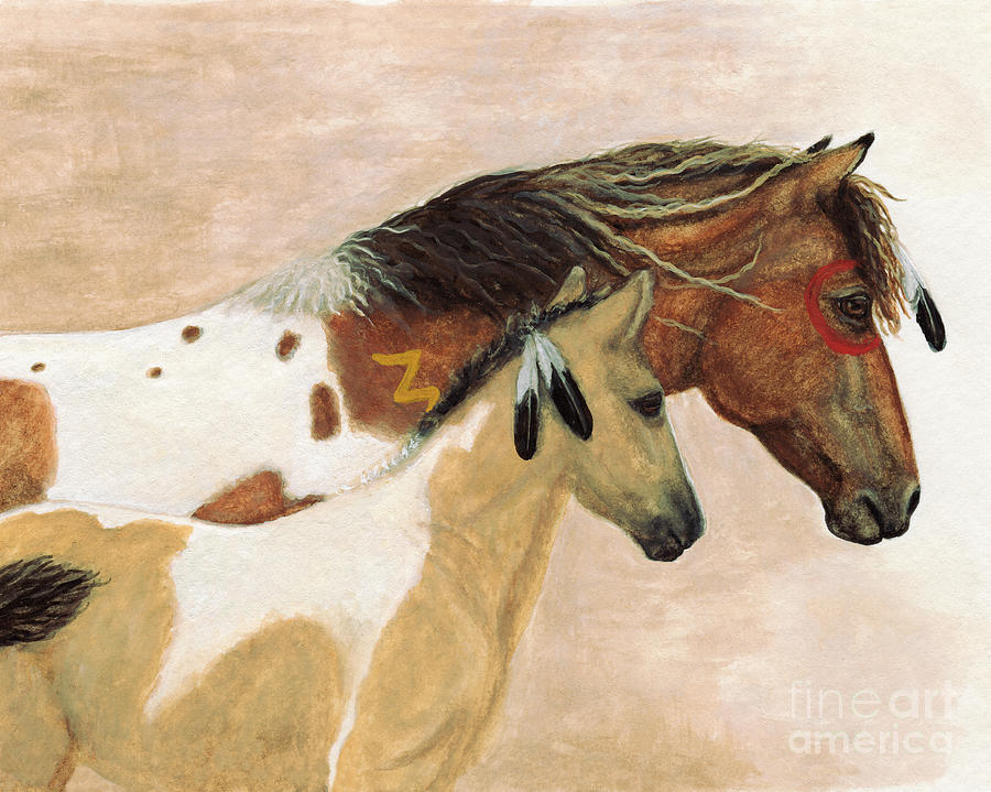 Majestic Horses Mare Foal Painting By Amylyn Bihrle