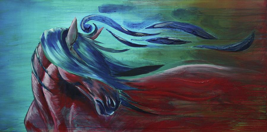 Horses Painting - Majestic by Jerry Frech