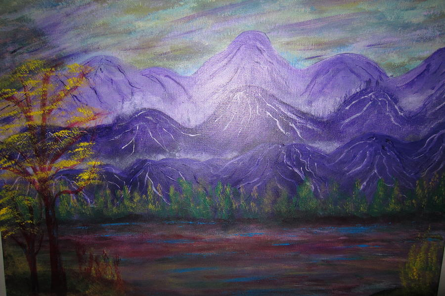 Mountains Painting - Majestic  Mountains by Michael Messina