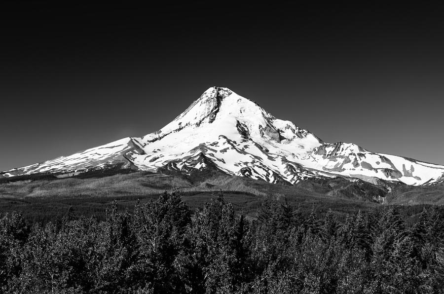 Black And White Mountain Tapestry