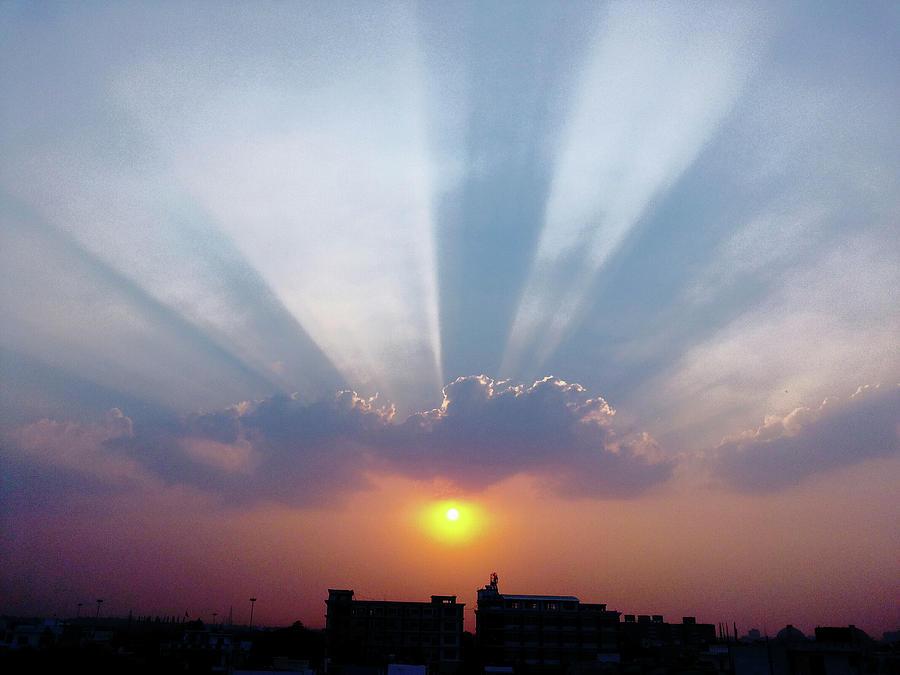 City Photograph - Majestic Rays by Atullya N Srivastava