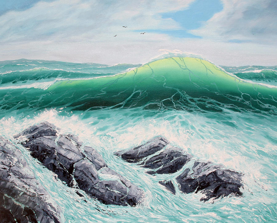 Oil Paintings Painting - Majestic Sea by Lorraine Foster