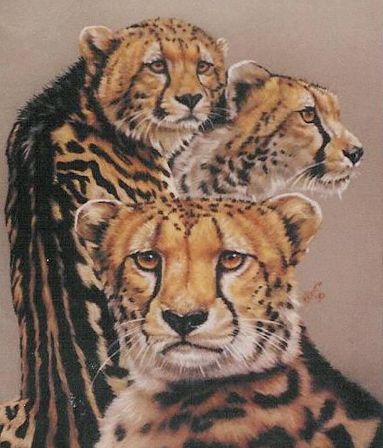 Cheetah Pastel - Majestic Vagabond by Barbara Keith