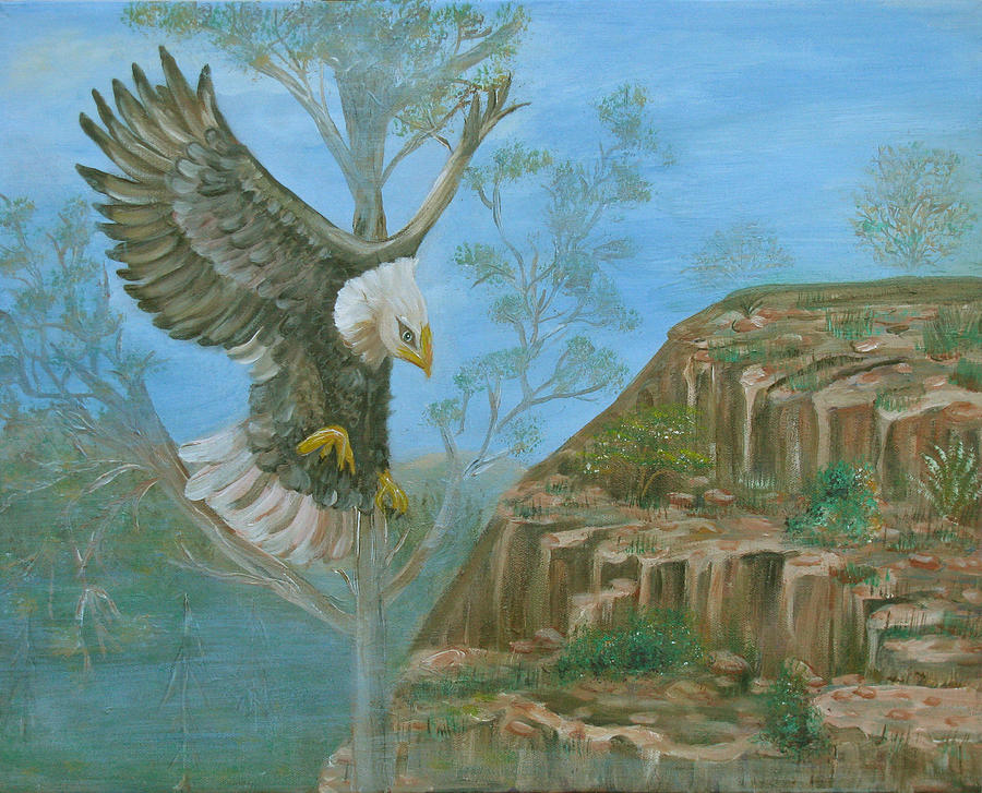 Eagle Painting - Majestic Warrior by Mikki Alhart