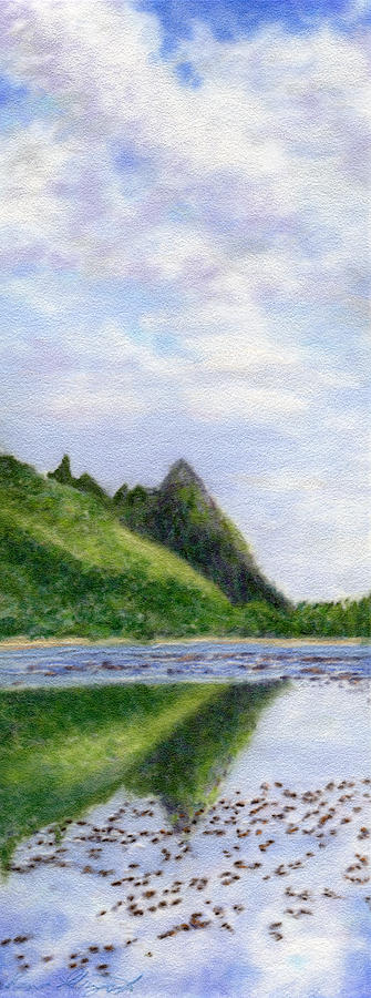 Tropical Interior Design Painting - Makana Reflection by Kenneth Grzesik