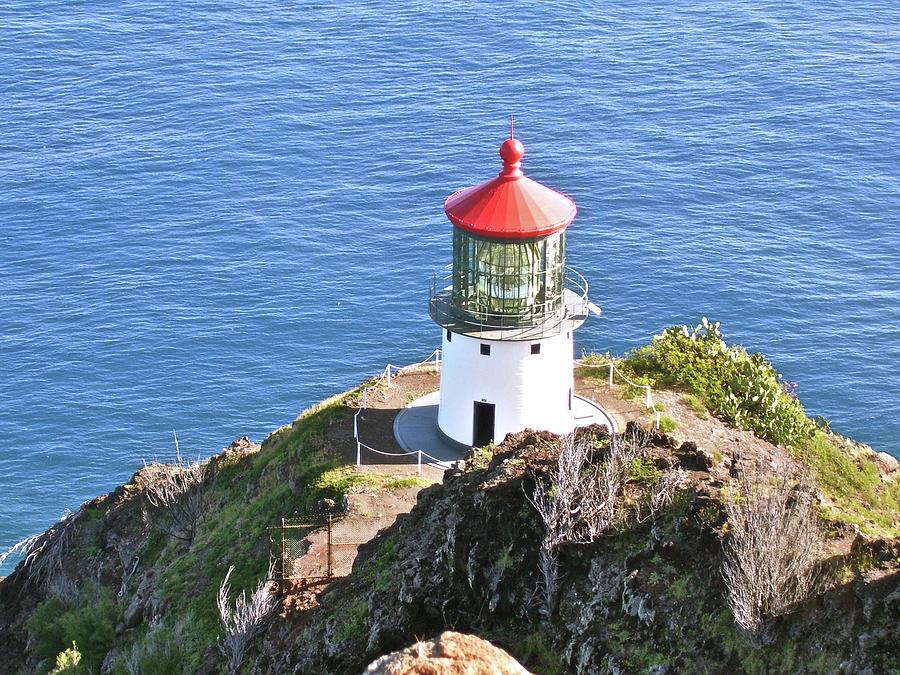 Landscape Photograph - Makapuu Lighthouse 1065 by Michael Peychich