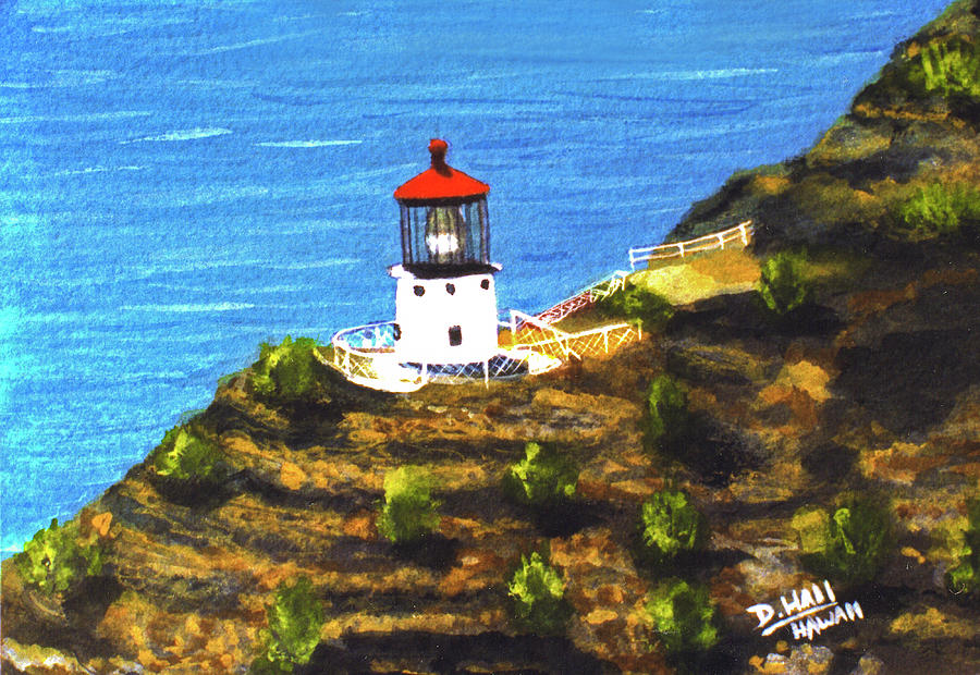 Makapuu Lighthouse #78, Painting by Donald k Hall