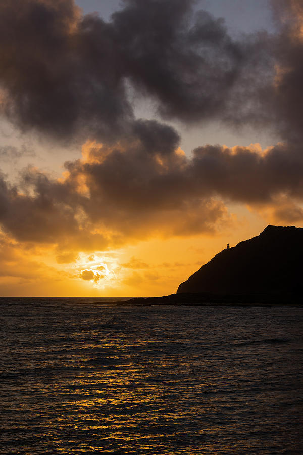 Seascapes Photograph - Makapuu Point Lighthouse Sunrise by Brian Harig