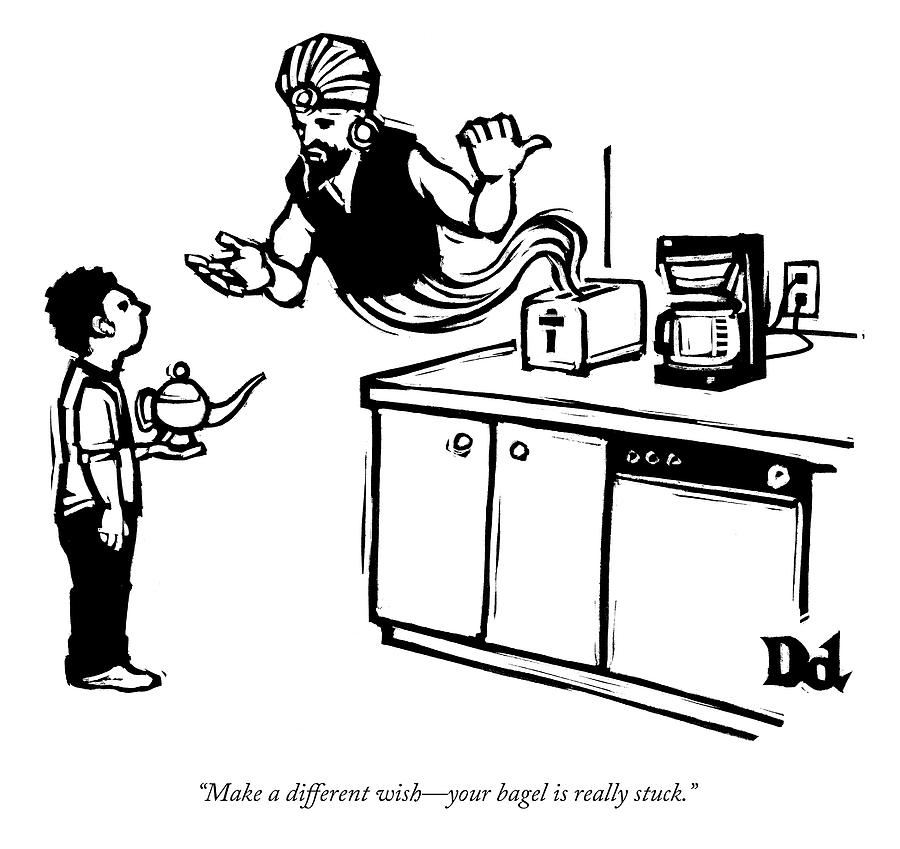 Make a different wish Drawing by Drew Dernavich