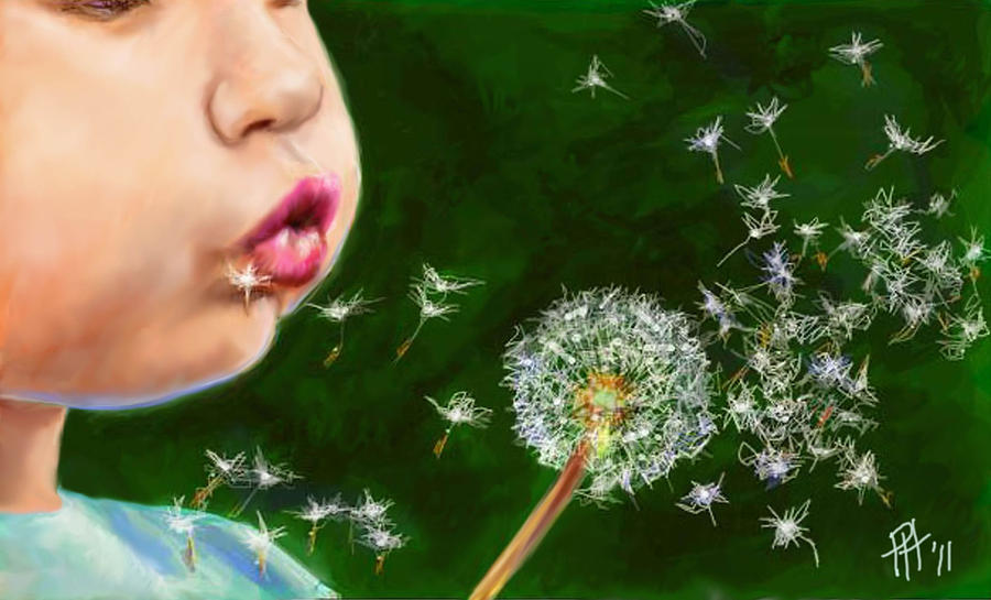 Make A Wish Painting By Peggy Hickey