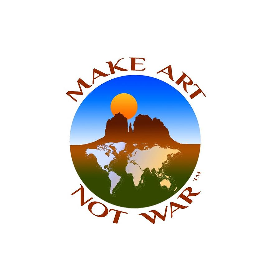 Make Art Not War Logo by Victoria Oldham
