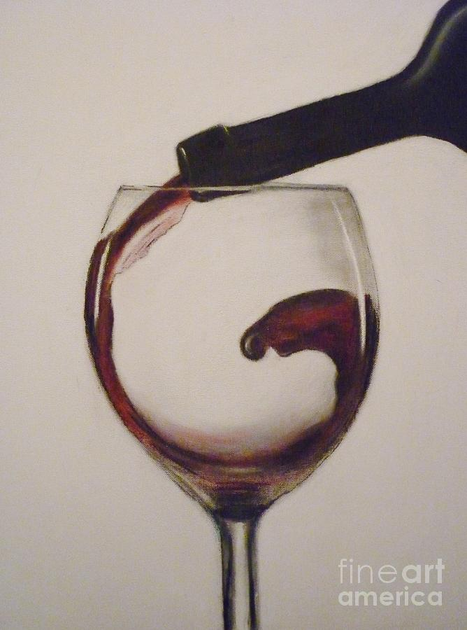 Red Pastel - Make Mine A Red Wine by Paul Horton