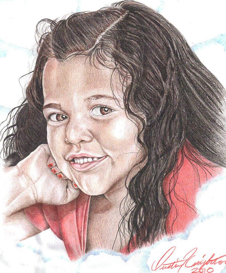 Makia Drawing by Dustin Knighton