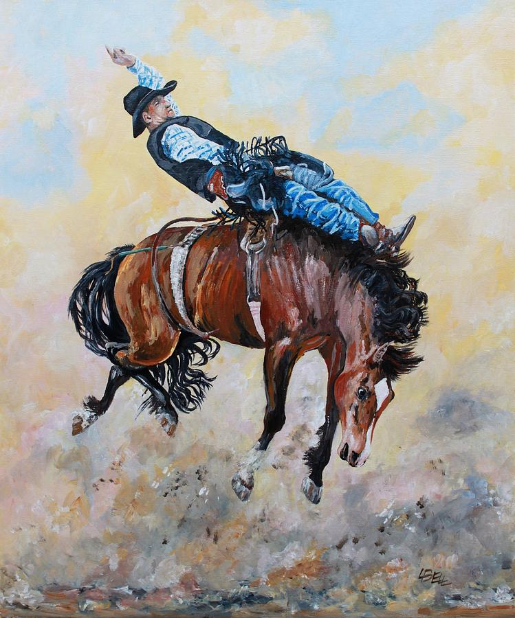 Rodeo Painting - Making 8 Seconds by Leonie Bell