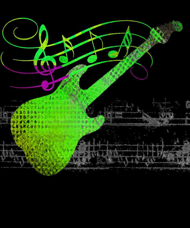 Guitar Digital Art - Making Music by Guitar Wacky