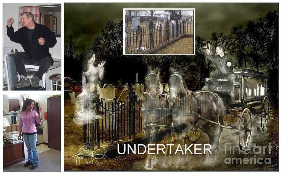 Cemetery Photograph - Making The Undertaker by Tom Straub