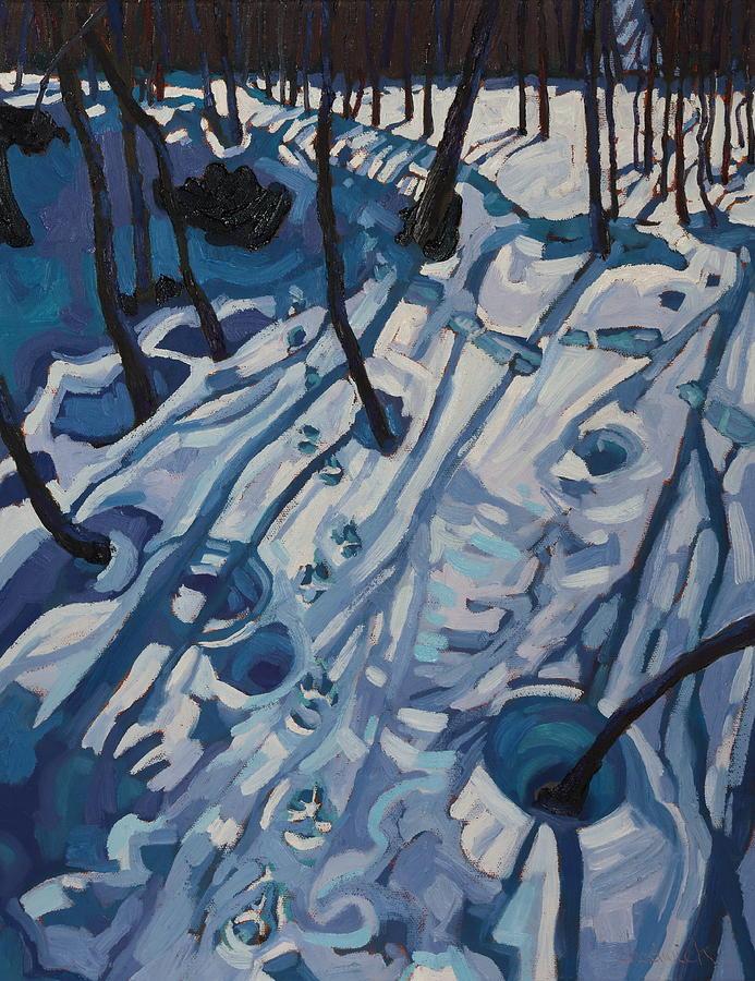 Tracks Painting - Making Tracks by Phil Chadwick