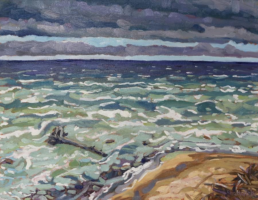818 Painting - Making Waves In Oil by Phil Chadwick