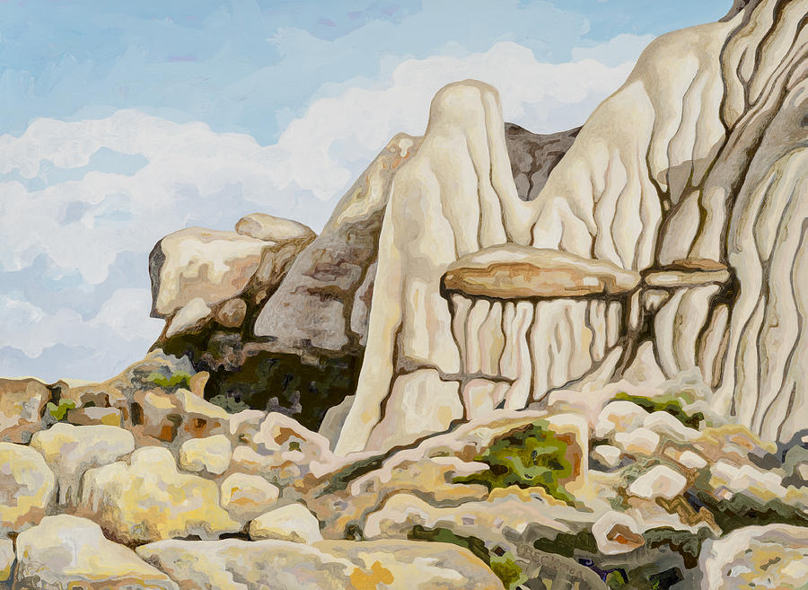 Makoshika State Park Painting - Makoshika State Park #6 by Dale Beckman
