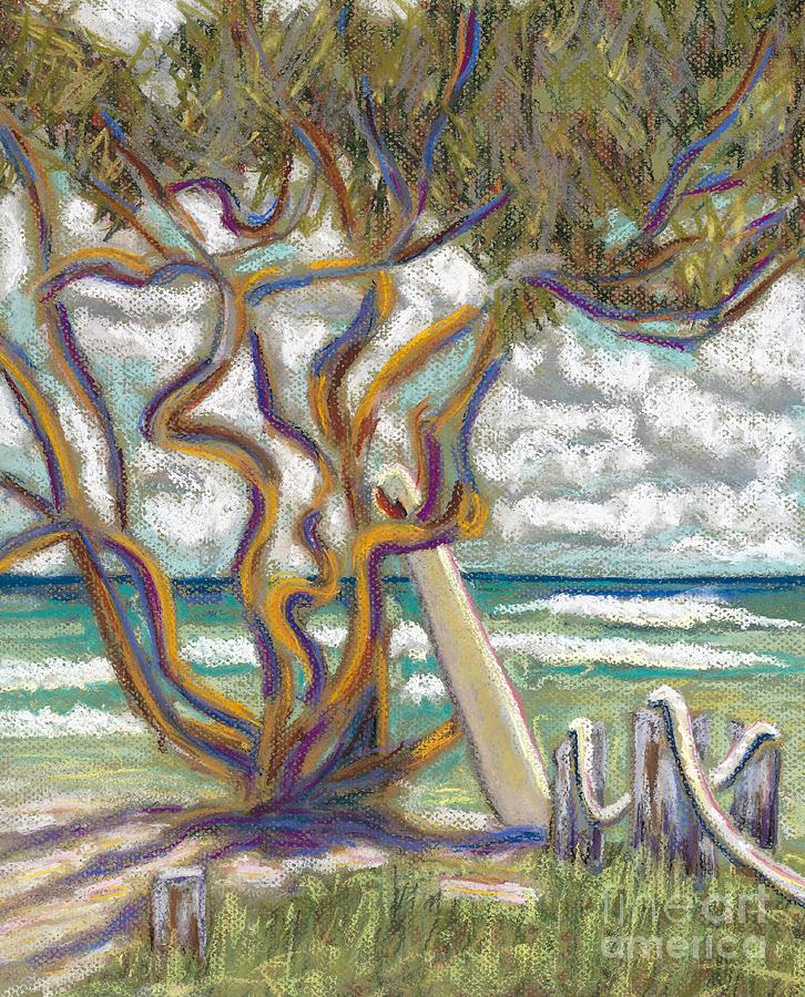 Beach Painting - Malaekahana Tree by Patti Bruce - Printscapes