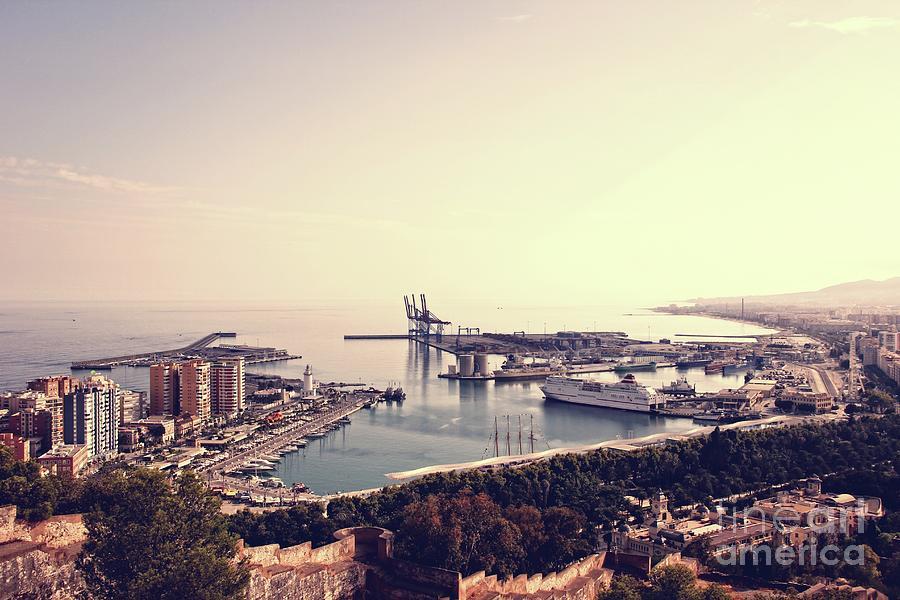 Malaga harbor by Jackie Mestrom