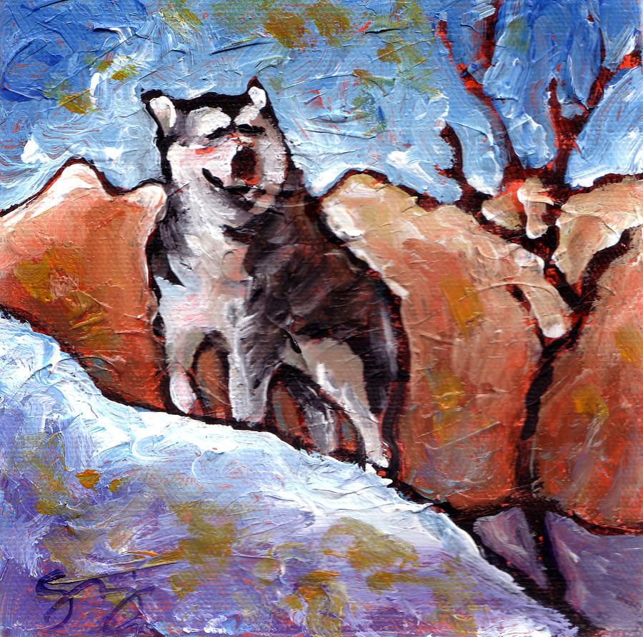 Malamute Painting - Malamute by Sara Zimmerman