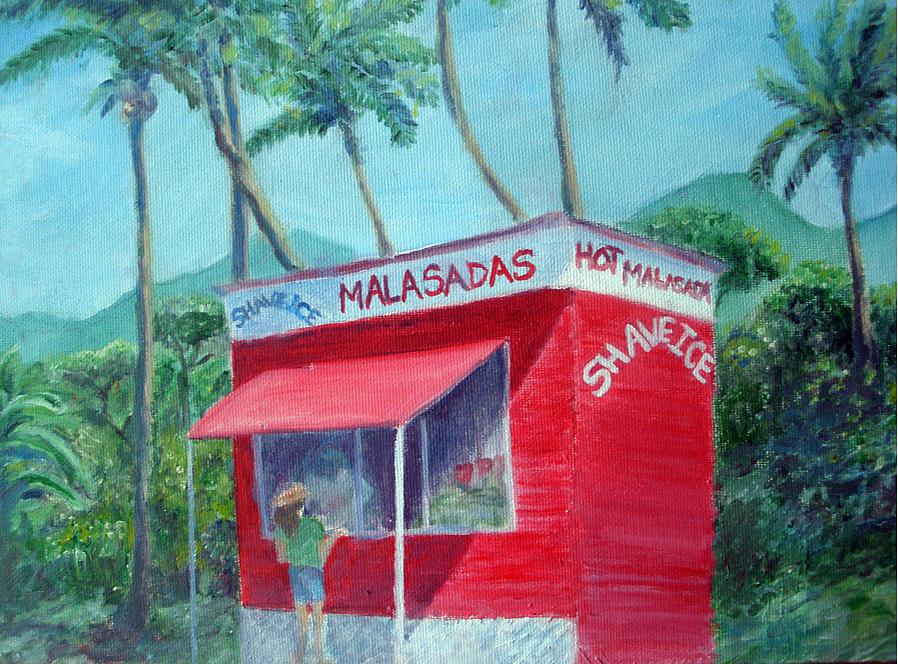 Hawaii Painting - Malasada Stand by Mike Segura